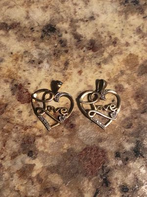 2 love necklace charms for Sale in Reynoldsburg, OH