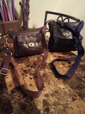 2 COACH Handbags brown & black leather turnlock small crossbody shoulder bag purse messenger for Sale in Phoenix, AZ