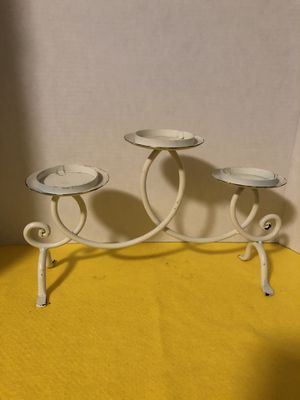 Farmhouse candle holder off white for Sale in Holiday, FL