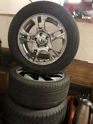 Brand new Chrome rims and tires for Sale in Lorton, VA