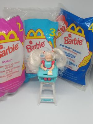 1998 Barbies from Happy meal toy collection for Sale in Hemet, CA