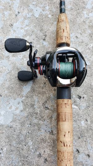 fishing rod and kastking baitcaster reel with quantum pole for Sale in San Diego, CA
