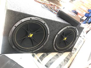 2 12's Kickers with pro box and planet audio amp for Sale in Pensacola, FL
