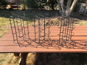 Three Wine Stands - Holds 8 wine bottles per rack for Sale in Kensington, MD