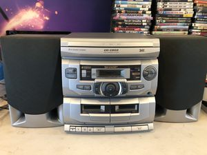 Sharp CD-C602 Component System 3-Disc Changer- 2 Cassette Stereo Tested! X-Bass for Sale in Struthers, OH