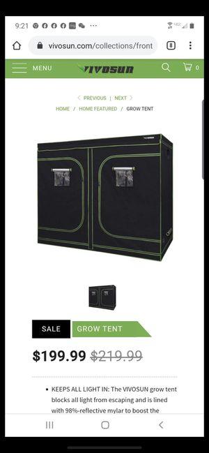 Grow tent black 4x8 for Sale in Diamond Bar, CA