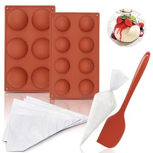 Semi Sphere Silicone Mold for Chocolate - Baking Mold for Making Hot Chocolate Bomb,Cake,Jelly, Pudding,Dome Mousse DIY with 2pcs Different Size Molds for Sale in Monterey Park, CA