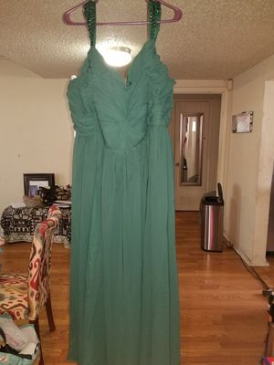 A-line/princess sweetheart floor-length chiffon dress with ruffle beading sequins for Sale in Fort Worth, TX