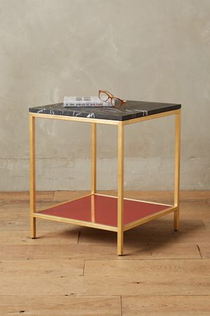 Anthropologie marble side table for Sale in Los Angeles, CA