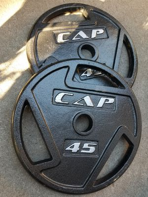 Olympic weight plates 45lbs for Sale in Sacramento, CA