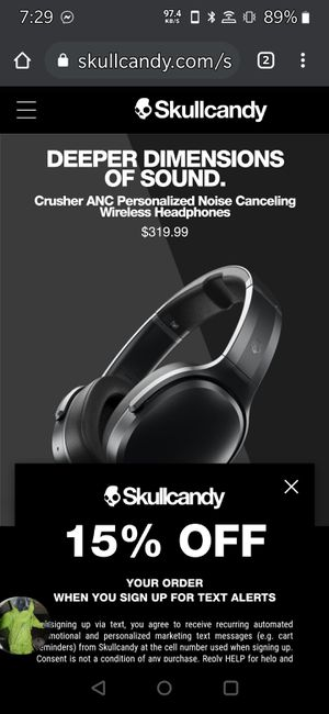 Skullcandy skullcrusher anc headphones for Sale in Las Vegas, NV