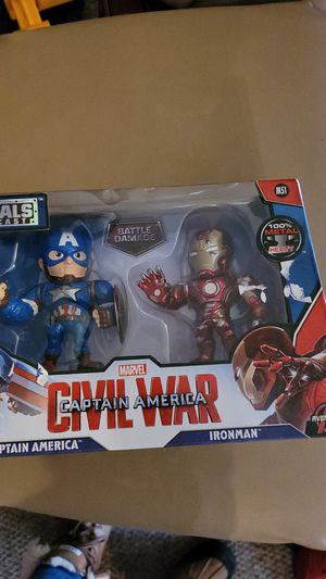 Metal captain America and Ironman toys for Sale in Kent, WA