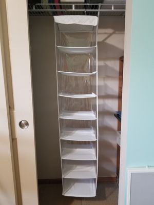 8 shelf hanging closet organizer Excellent condition for Sale in Renton, WA
