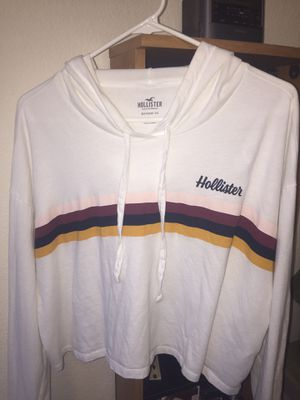 Cropped White Hoodie from Hollister for Sale in Fremont, CA