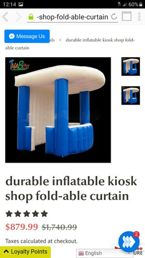durable inflatable kiosk shop fold-able curtain for Sale in Moreno Valley, CA