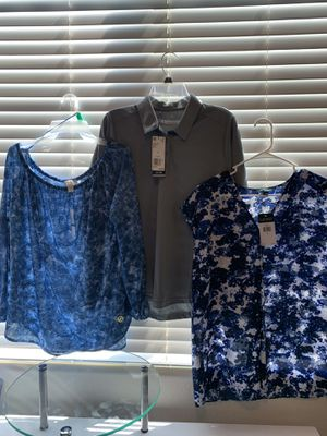 Set of three women's designer New blouses Lauren Michael Kors and Adidas size large for Sale in Mesa, AZ