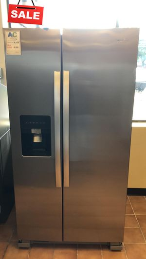 FIRST COME!!CONTACT TODAY! Refrigerator Fridge Whirlpool Stainless Steel #1483 for Sale in Silver Spring, MD