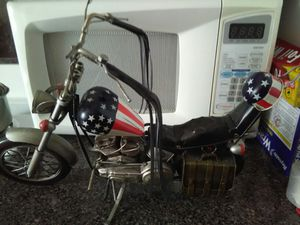Easy rider captain America motorcycle huge 14 in long 7 in high ALL medal no gas no motor no electric for Sale in Philadelphia, PA