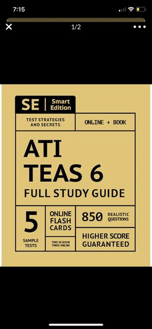 ATI TEAS Version 6 Study Guide for Sale in Highland, CA
