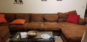 Huge sectional couch. Microfiber. Rarely used for Sale in West Jordan, UT