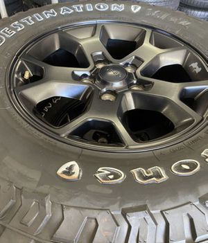"17"" Jeep Wrangler Willys edition black new wheels and tires for Sale in Huntington Beach, CA"