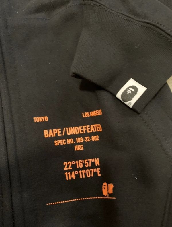 Undefeated x bape hoodie size XXL