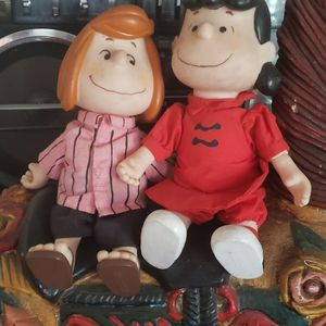 Vintage large peanuts Dolls. Lucy, Peppermint Patty for Sale in West Covina, CA