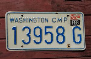 Vintage Washington Camper License plate for Sale in Vancouver, WA