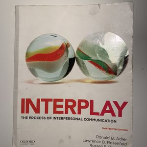 Interplay The Process of Interpersonal Communication Textbook for Sale in Rancho Santa Margarita, CA
