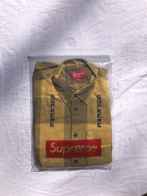 Supreme big logo flannel shirt for Sale in Ballwin, MO