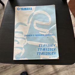 Yamaha TT-R125 Owners Manual for Sale in Bothell,  WA