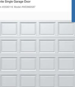 Wayne Dalton Classic Steel Model 9605 8-ft x 7-ft Insulated White Single Garage Door Replacement Panels for Sale in Beaverton,  OR