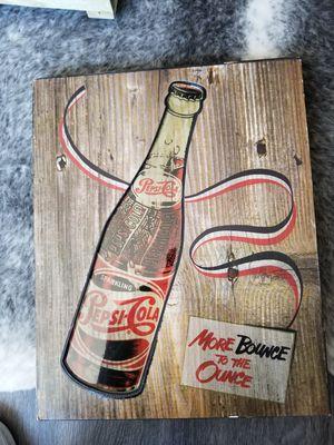 Pepsi retro wooden art for Sale in Chicago, IL
