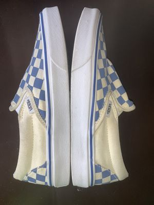Vans size 7.5 blue and white checkered vans for Sale in Monrovia, CA