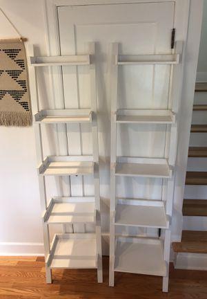 Leaning Bookshelves - White Shelves/Shelving for Sale in Seattle, WA