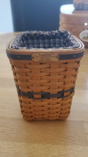 1997 longaberger minature waste basket edition for Sale in El Paso, TX