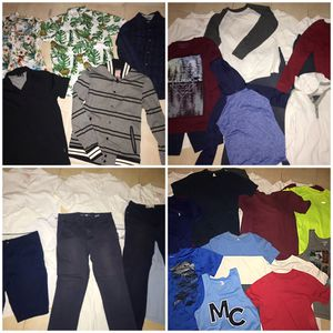 Boy Clothes 33 Items, Uniforms, Dress Shirts, Shirts, Pants, Sweater, Shorts $49 for Sale in Long Beach, CA