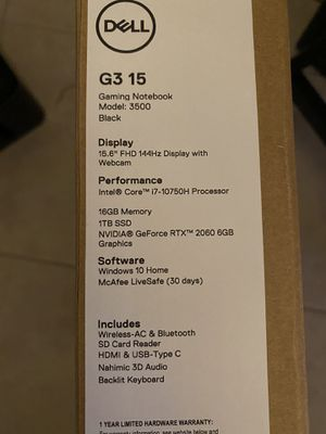 Brand new sealed Dell G3 15 for Sale in Pembroke Pines, FL