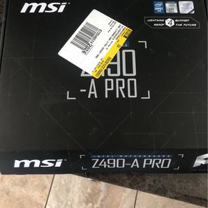 Msi Z490-A Pro (read Description ) for Sale in Glendora, CA