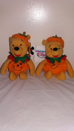 "New Disney Pumpkin Pooh 8"" w/ tags Beanie Babies for Sale in Downers Grove, IL"