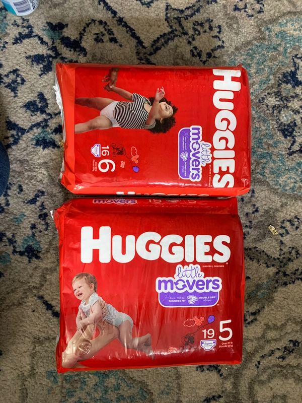 4 packs of Huggies