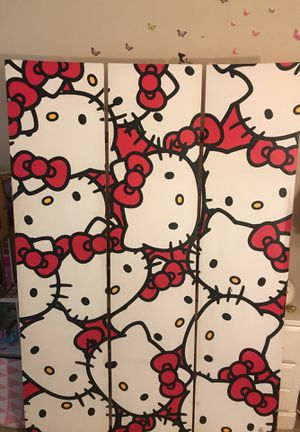 Hello kitty wall separated for Sale in Rockville, MD