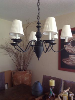 Chandelier with shades for Sale in Mesa, AZ