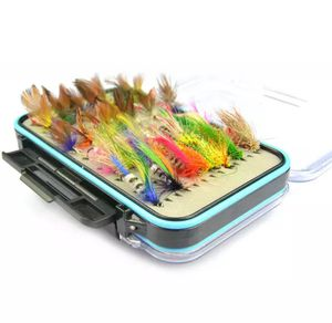 Fly fishing tackle box with 64 flies for Sale in Gurnee, IL