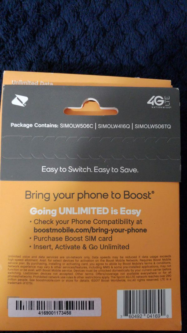 SIM card activation kit, boost Mobile for Sale in Daytona Beach, FL -  OfferUp