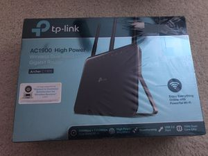 TP-Link AC1900 High Power Wireless Wi-Fi Gigabit Router (Archer C1900) for Sale in Vancouver, WA
