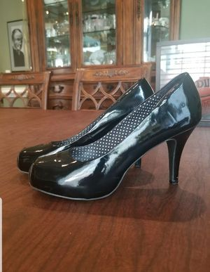 SM New York Black Patent Closed Toe High Heel Size 7.5 Womens Shoes for Sale in Lexington, SC