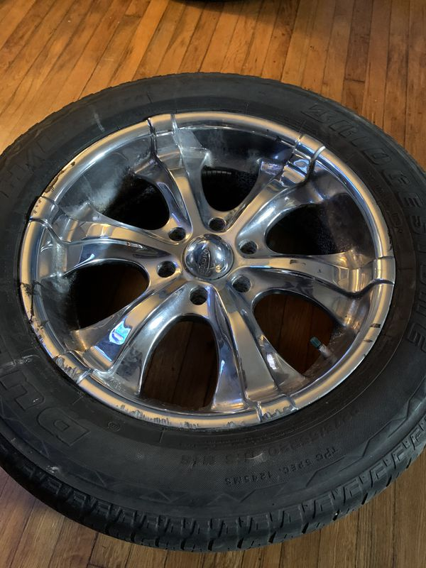 """20"""" rims and tires 6lugs GMC"""
