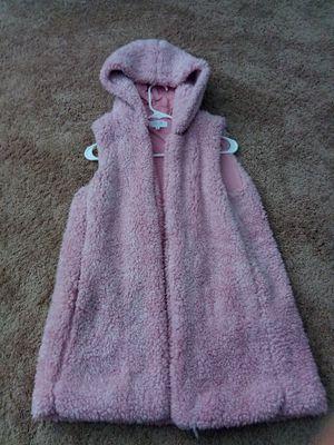 Pink fluffy vest jacket for Sale in Fort Washington, MD