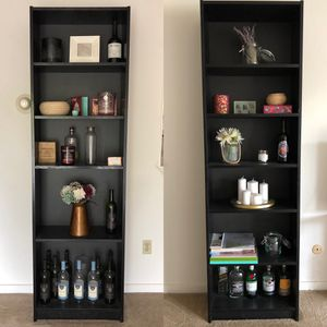 Pair of Black Bookshelves for Sale in Pittsburgh, PA